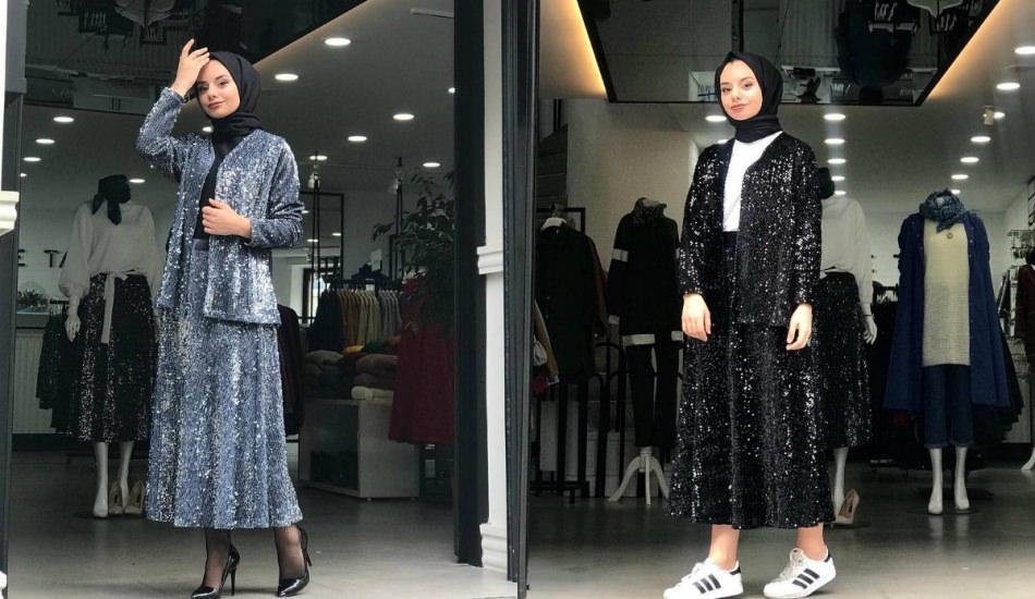 Payetli elbise modelleri ve kombin önerileri