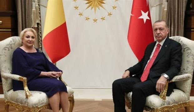 Erdoğan, Viorica Dancila'yı kabul etti