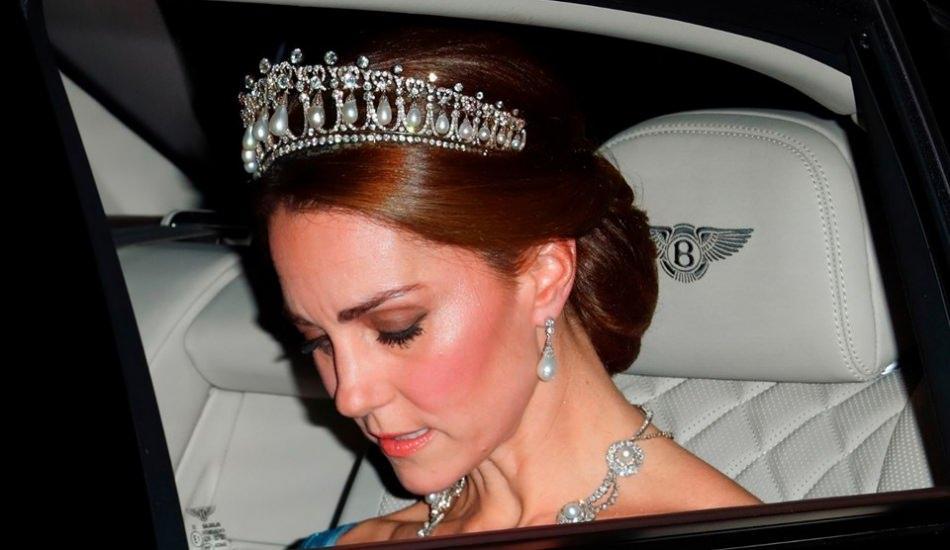 Kate Middleton, Lady Diana'dan miras kalan taçla