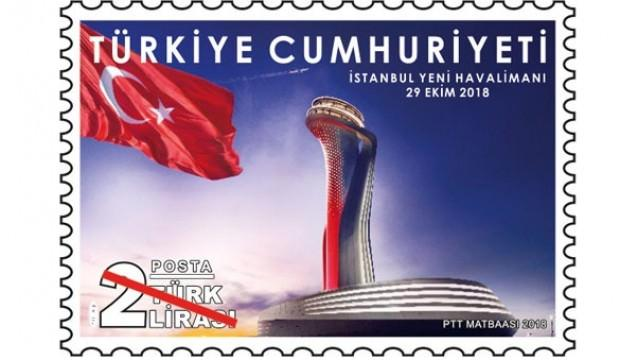 """PTT'den """"İstanbul Yeni Havalimanı"""" pulu"""