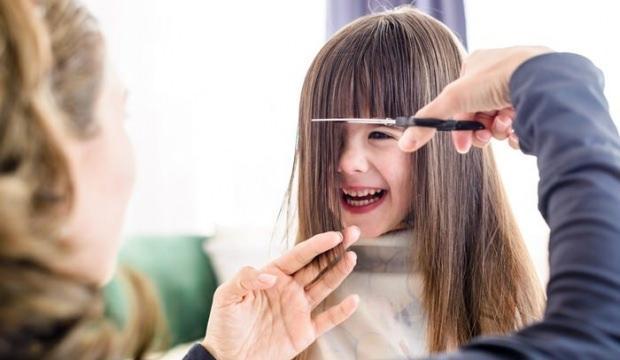 Çocuklar için kahküllü saç modelleri