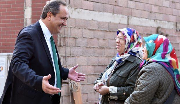 Başkan Aksu, vatandaşlarla bir araya geldi