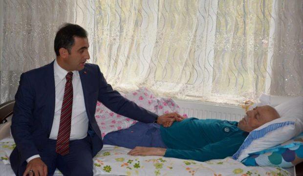 Kaymakam Alibeyoğlu'ndan şehit ailesine ziyaret