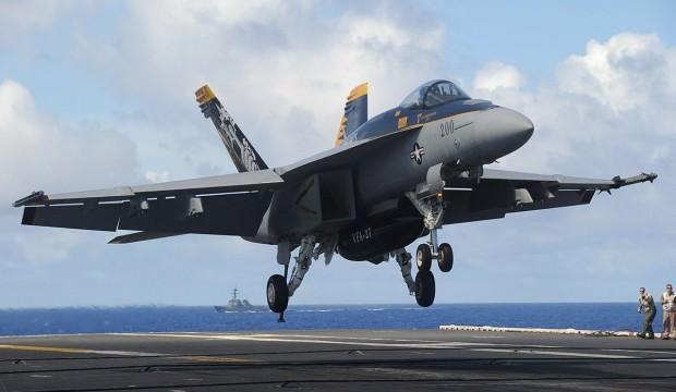 ABD ordusuna ait savaş uçağı düştü!