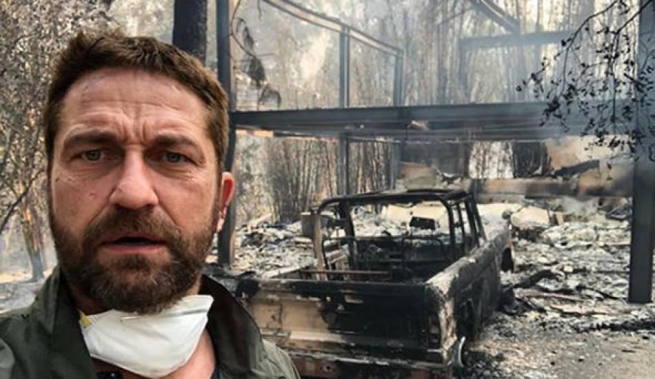 Dünyaca ünlü oyuncu Gerard Butler'in evi küle döndü