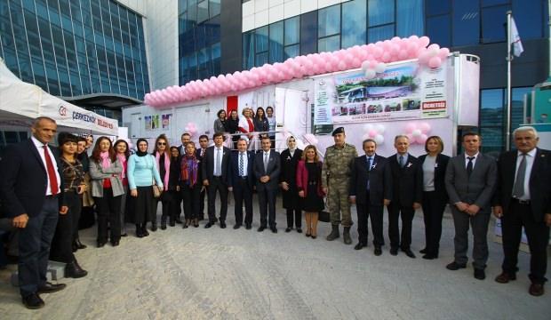 Mobil kanser tarama tırı Çerkezköy'de