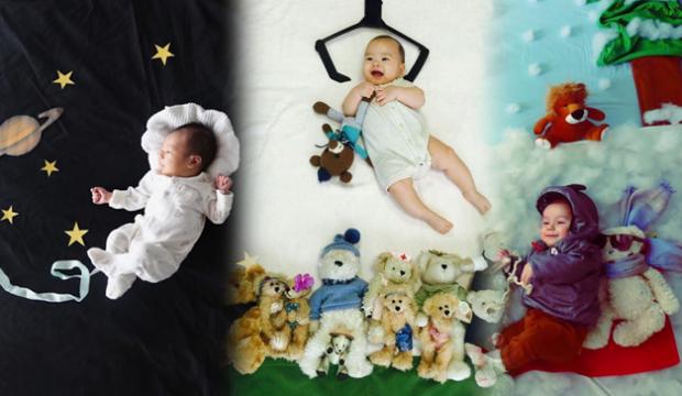 Ay ay konsept bebek fotoğrafları çekimi! Evde en farklı bebek fotoğrafları nasıl çekilir?