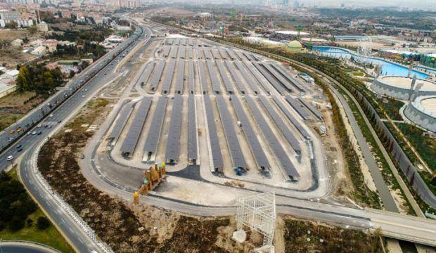 Altı otopark üstü güneş enerjisi santrali