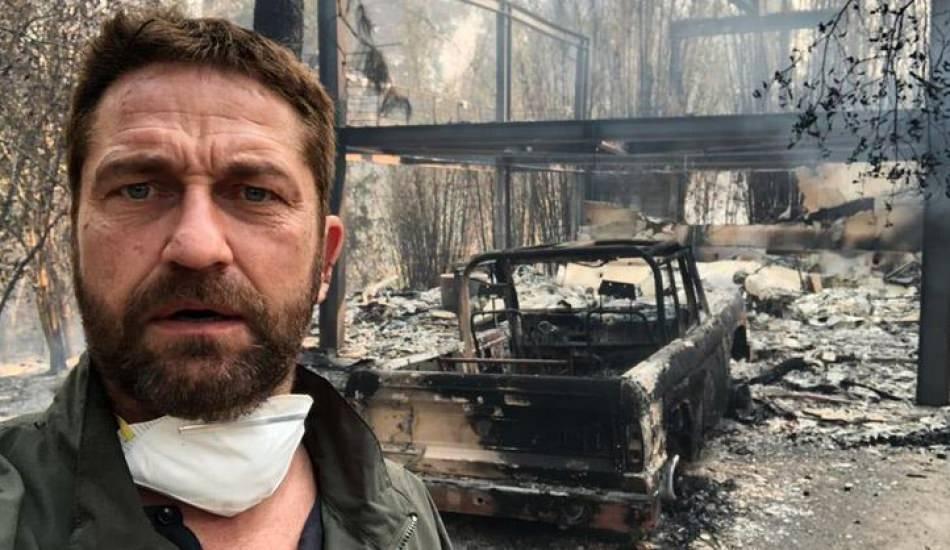 Evi yanan Hollywood oyuncusu james Butler'e Filistin hatırlatması!