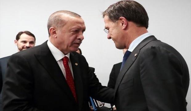 Erdoğan Mark Rutte ile görüştü
