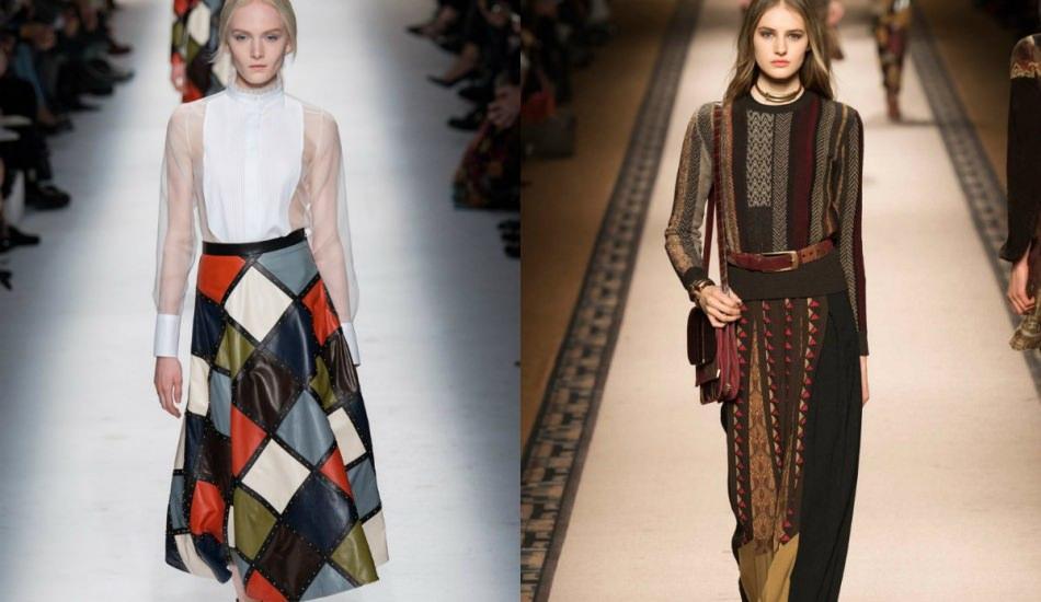 Sezonun kış modasında patchwork detayı