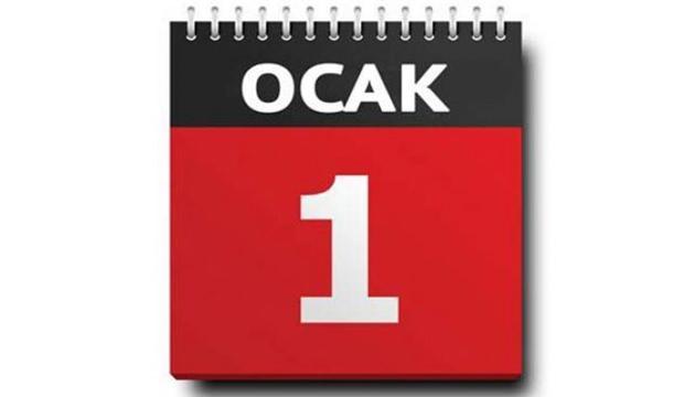 Yılbaşı tatili 01 Ocak pazartesi günü çalışanlara 4 gün izin var mı?