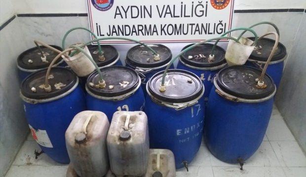 Aydın'da 1 ton 174 litre kaçak şarap ele geçirildi
