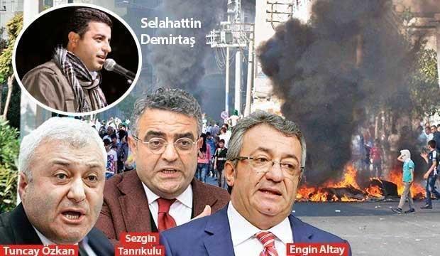 Hepsi Demirtaş'a kalkan oldu