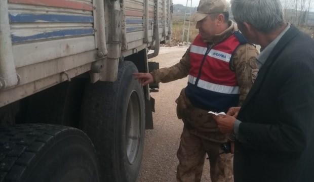 Andırın'da jandarmanın trafik denetimleri