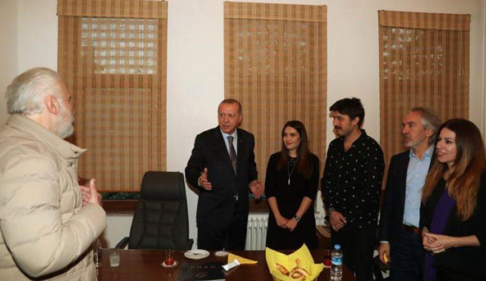 Başkan Erdoğan'dan ünlü oyunculara sürpriz ziyaret