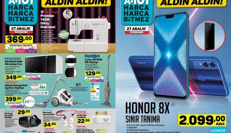 A101 27 Aralık ürün kataloğunda dev indirimler! Fantom el süpürgesi...