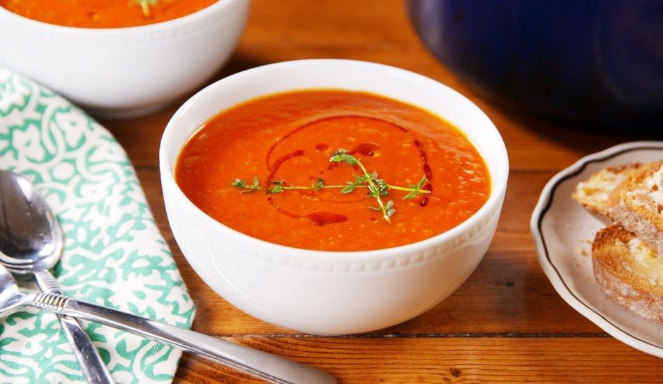 Evde kolay domates çorbası nasıl yapılır?