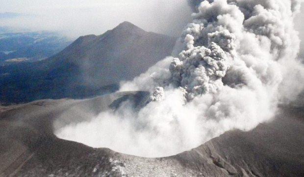 Japonya'da yanardağ patlaması!