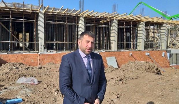 Başkan Türkcan'dan hastane inşaatında inceleme