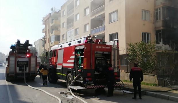 Tire'de ev yangını