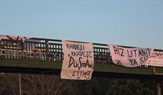 Bursaspor taraftarından protesto