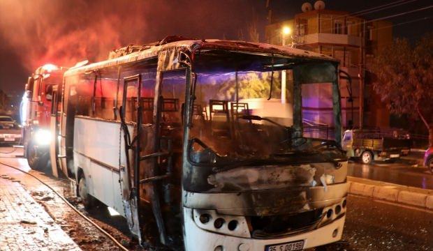 İzmir'de servis minibüsünde yangın