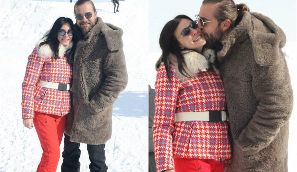 Düzyatan çiftinden Uludağ'da romantik tatil!
