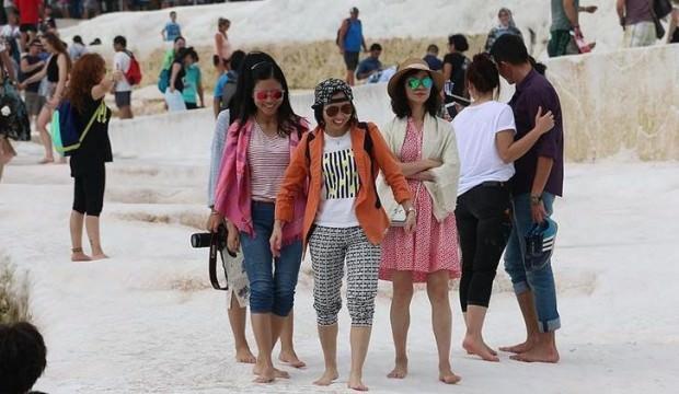 Pamukkale'ye 2019'un ilk iki ayında 132 bin turist