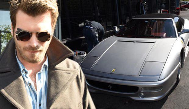 Kıvanç Tatlıtuğ'un Ferrari'si dikkat çekti!