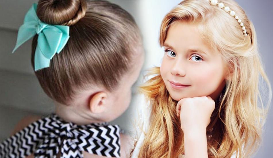 Özel günler için kız çocuğu saç modelleri