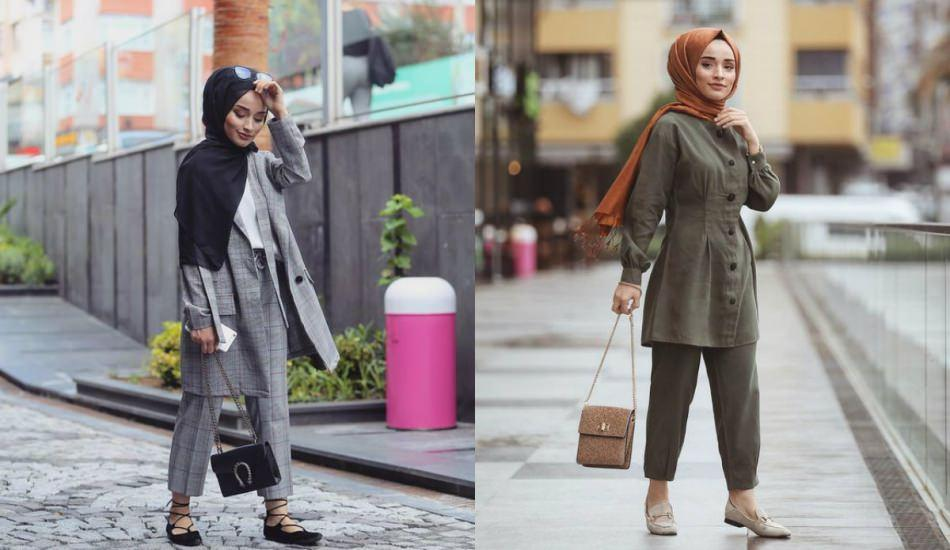 Ramazan ayına özel tesettür elbise takım modelleri