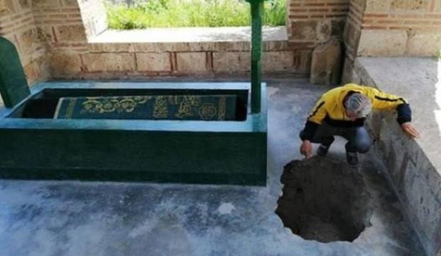 600 yıllık türbede şaşkına çeviren görüntü!