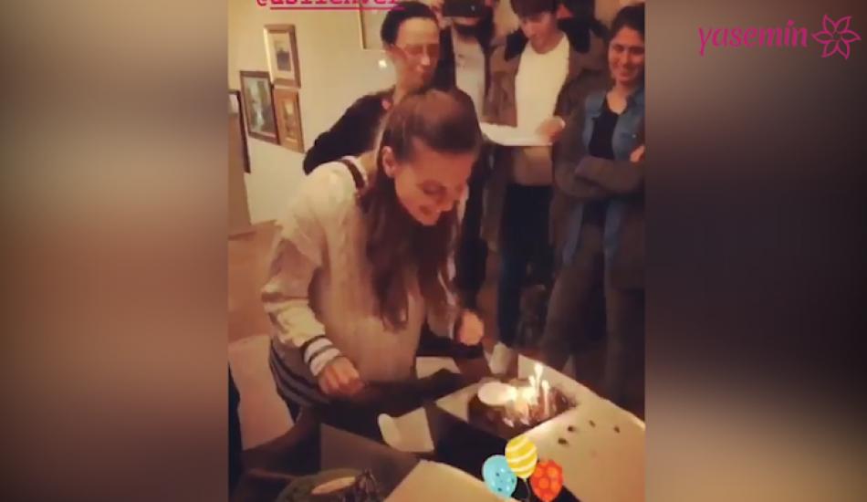 Dizi setinde Asla Enver'e sürpriz doğum günü partisi
