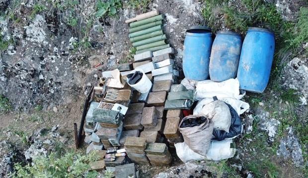 Hakkari'de, PKK'ya ait mühimmat ele geçirildi