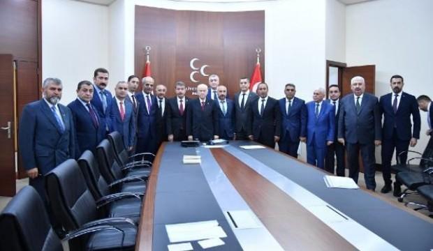 Bahçeli, 16 il başkanıyla bir araya geldi