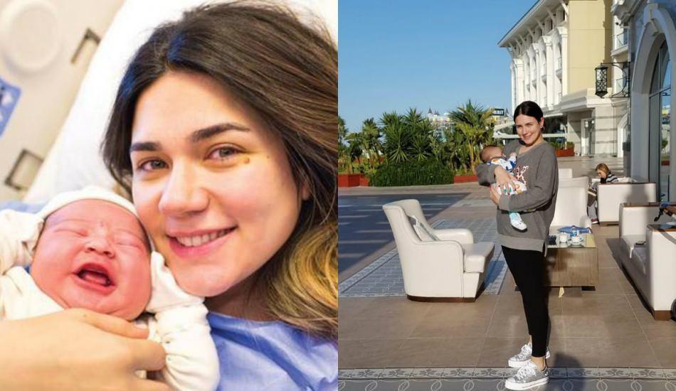 Doğum kilolarından eser yok! Buse Varol 2 ayda 20 kilo verdi...