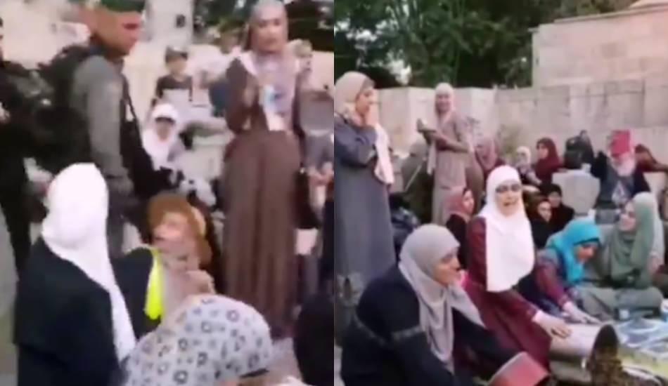 İşgalci İsrail'e korkusuzca tepki veren Filistinli kadınlar!