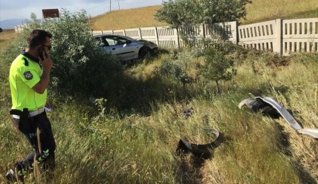 Rize'de otomobil devrildi: 1 ölü