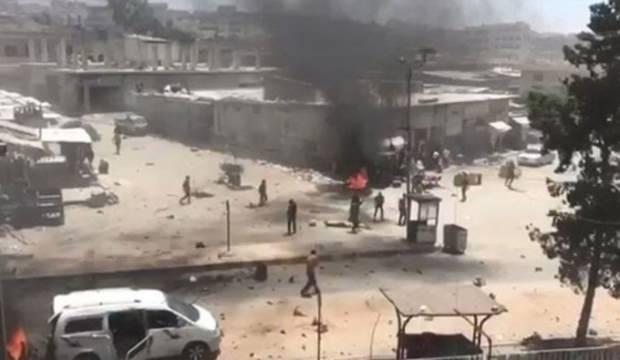 Afrin ilçe merkezinde patlama