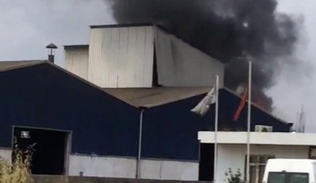 Hurda fabrikasında patlama