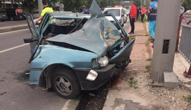 Kayseri'de aşırı hız kaza getirdi: 1 yaralı