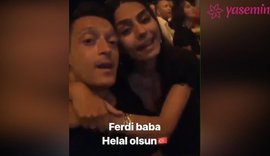 Amine Gülşe ve Mesut Özil'den Ferdi baba şarkısı!