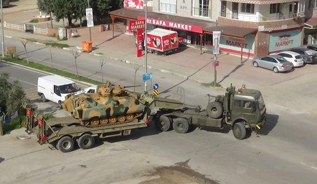 Sınır birliklerine tank sevkiyatı