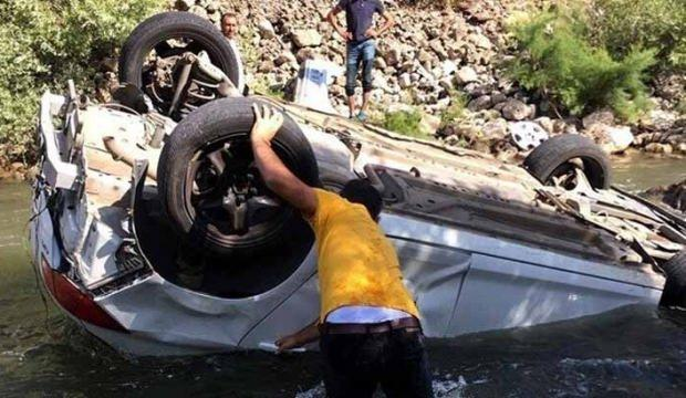 Bingöl'de otomobil çaya devrildi: 1 ölü, 2 yaralı