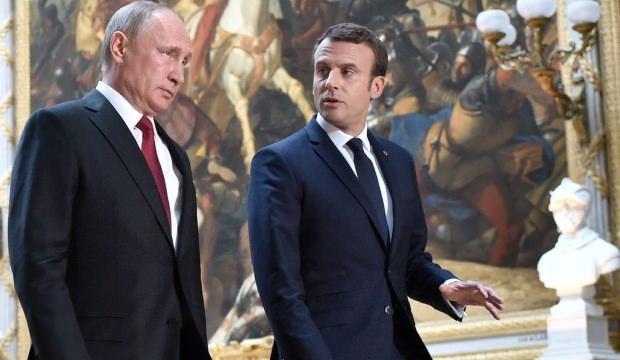Putin ve Macron'dan İdlib görüşmesi