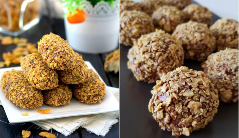 En pratik mısır gevrekli kurabiye tarifi