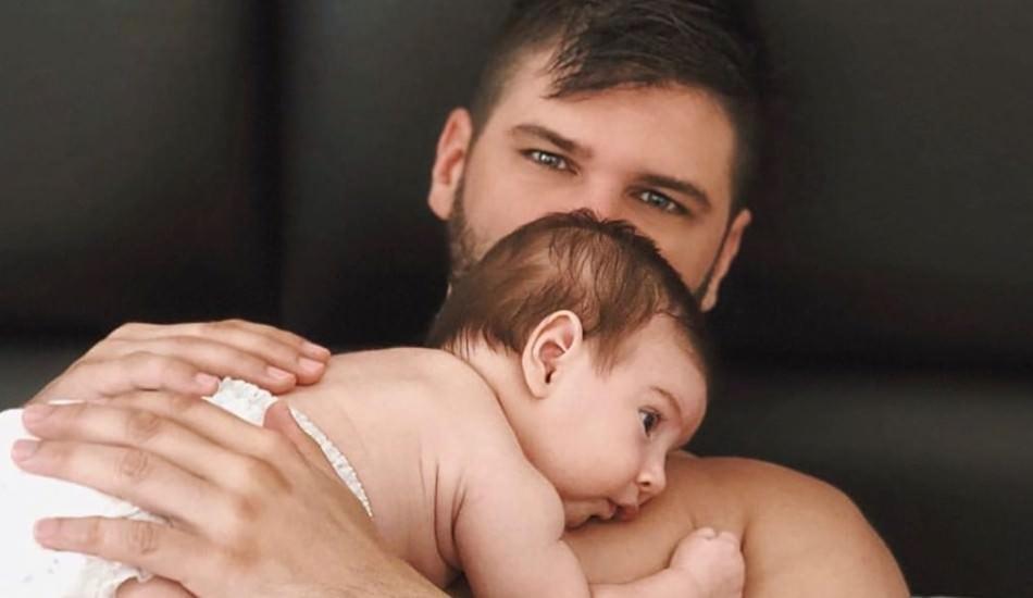 Tolgahan Sayışman 2 aylık oğlu ile sosyal medyayı salladı!
