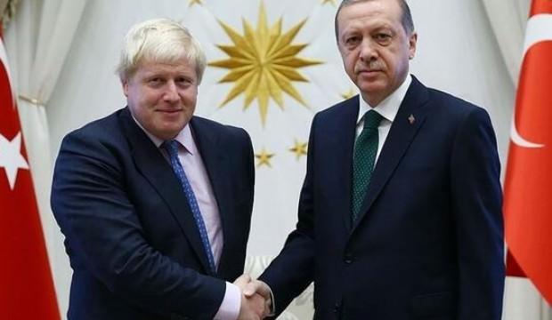 Son Dakika haber: Cumhurbaşkanı Erdoğan Boris Johnson ile görüştü!