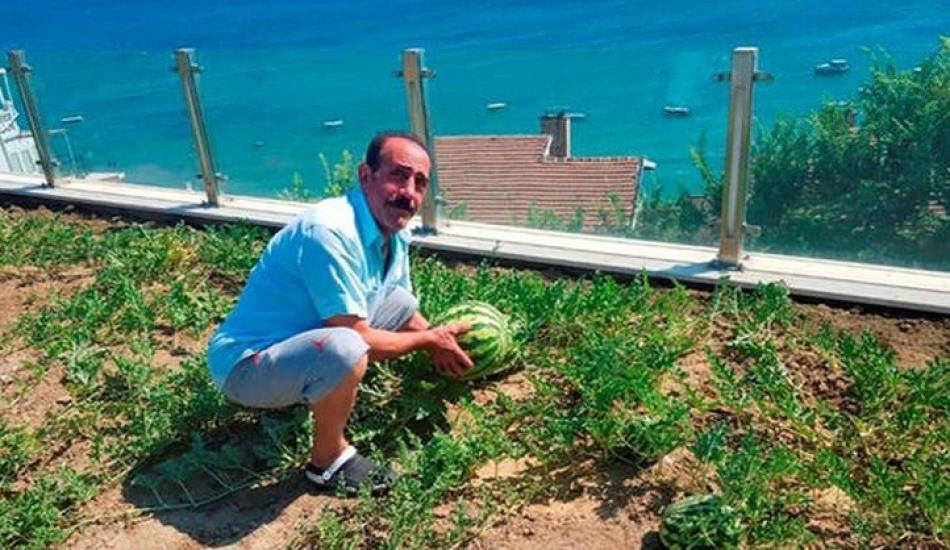 Mustafa Keser karpuz yetiştiriyor!